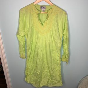 Lilly Pulitzer Vintage Green Dress Size S/M